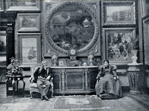 Copy of 184 Queen's Gate interior with Mr and Mrs McCulloch seated