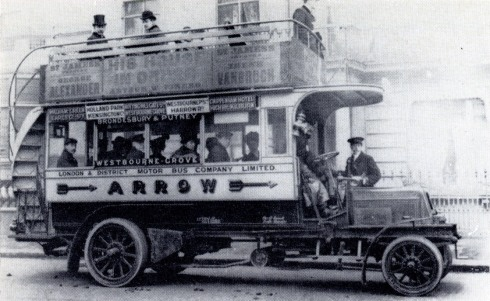 Arrow line bus early 1900s