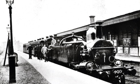 Train at West Kensington 1876