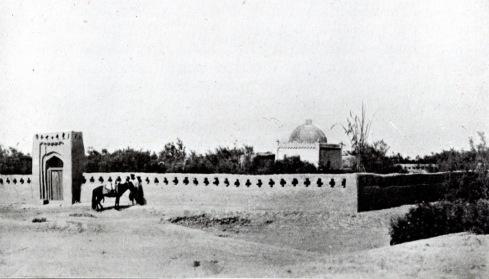 Muhammadan shrine and cemetery on road to Kasgar