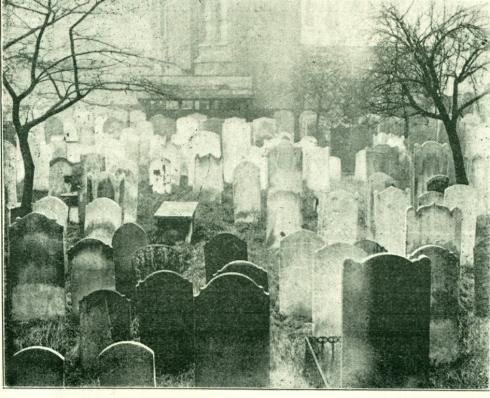 Jewish Cemetery in Fulham Road c1896